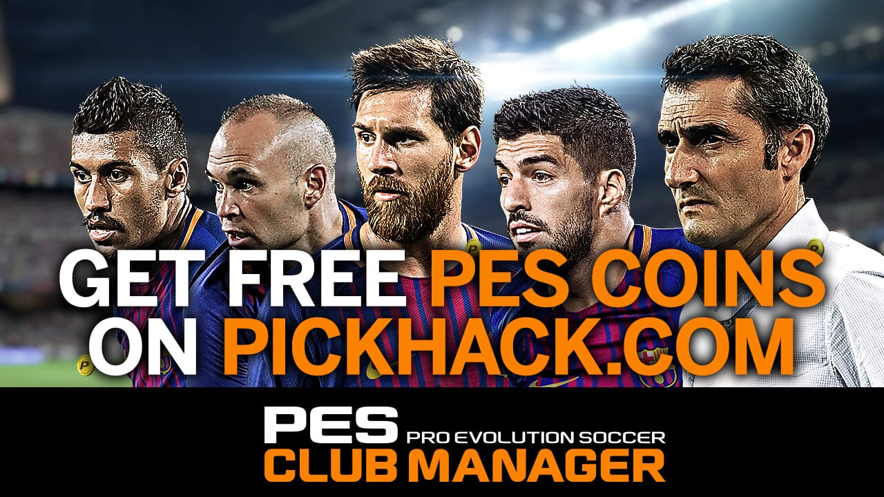 Image currently unavailable. Go to www.generator.pickhack.com and choose Pro Evolution Soccer Club Manager image, you will be redirect to Pro Evolution Soccer Club Manager Generator site.