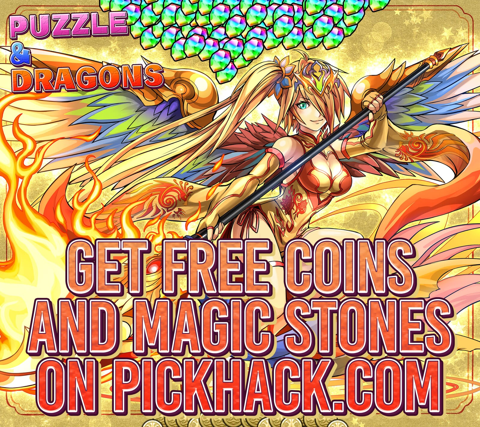 Image currently unavailable. Go to www.generator.pickhack.com and choose Puzzle & Dragons image, you will be redirect to Puzzle & Dragons Generator site.